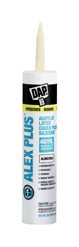 DAP  Alex Plus  Acrylic Latex  Caulk  Almond  10.1 oz.