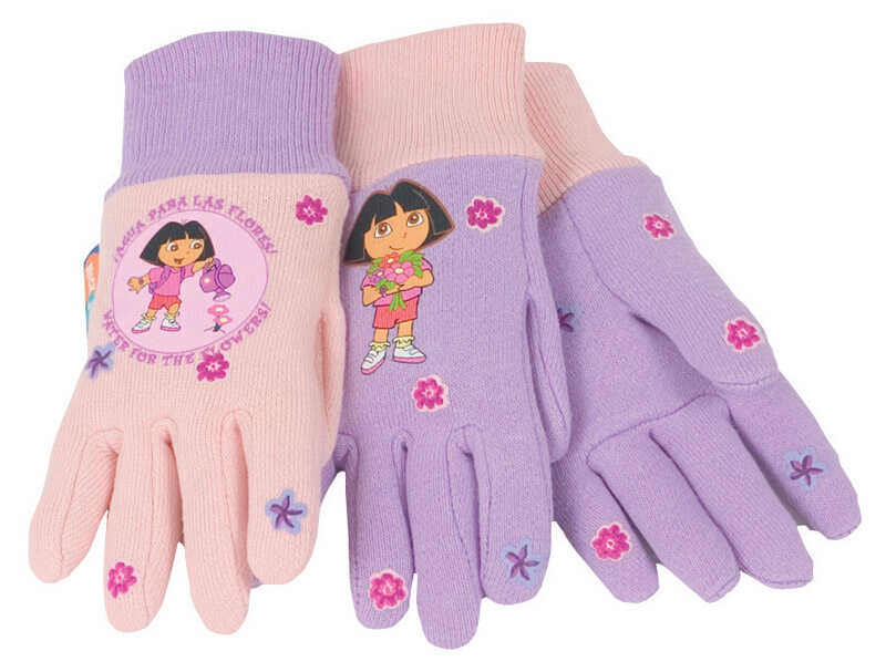 Midwest  Dora the Explorer  Jersey Cotton  Pink  Gloves  Youth