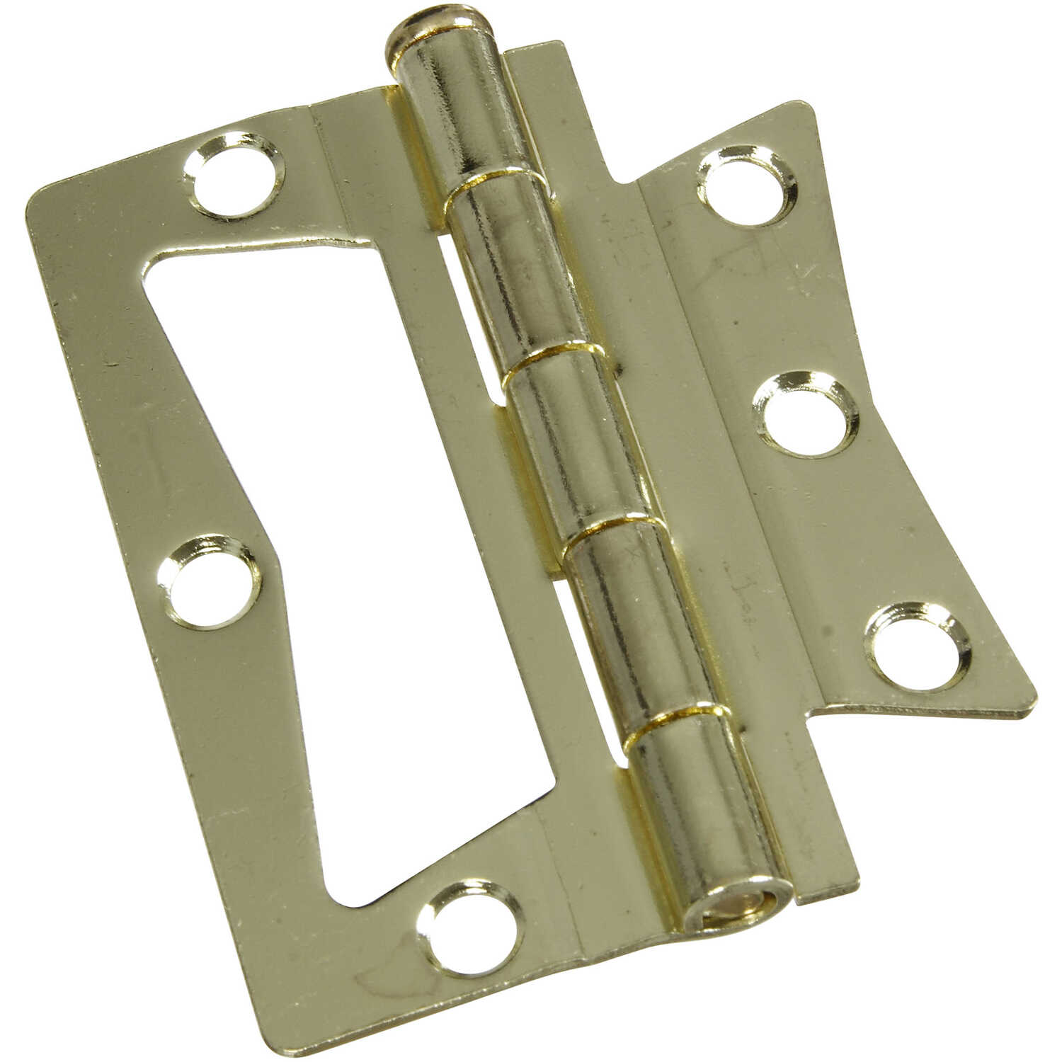National Hardware  3 in. L Brass-Plated  Surface-Mounted Hinge  2 pk
