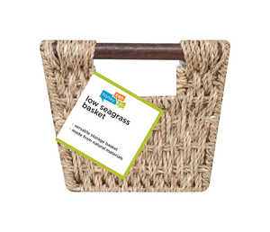 Honey Can Do  6 in. H x 8 in. W x 14 in. L Brown  Woven Basket