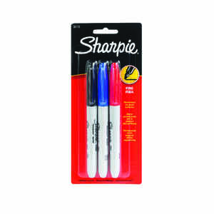 Sharpie  Assorted  Fine Tip  Permanent Marker  3 pk