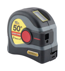 General Tools 2-in-1 Laser Tape Measure 1 pc.