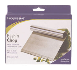 Progressive Prepworks Silver Stainless Steel Bash and Chop Scooper/Cutter