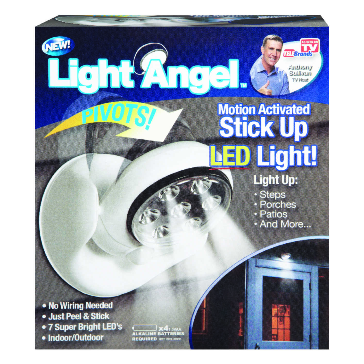 Light Angel  LED  Stick Up Light  1 pk