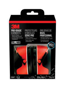 3M  30 dB Steel  Earmuffs  Black  1 pair