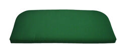Casual Cushion  Green  Polyester  Seating Cushion  2.5 in. H x 43.5 in. W x 19.5 in. L