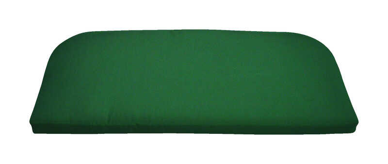 Casual Cushion  Green  Polyester  2.5 in. H x 43.5 in. W x 19.5 in. L Seating Cushion