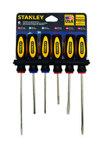 Stanley  6 pc. Screwdriver Set  Assorted in. Steel