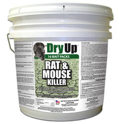 DryUp  Fish-Flavored  Bait  Packs  For Mice and Rats 4 lb. 16 pk