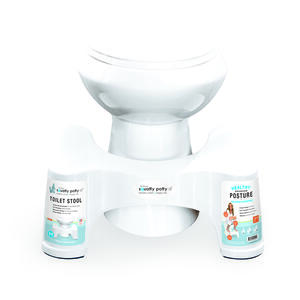 Squatty Potty  Toilet Stool  9.7 in. H x 13 in. W x 21 in. L Semi-Gloss  White  Plastic