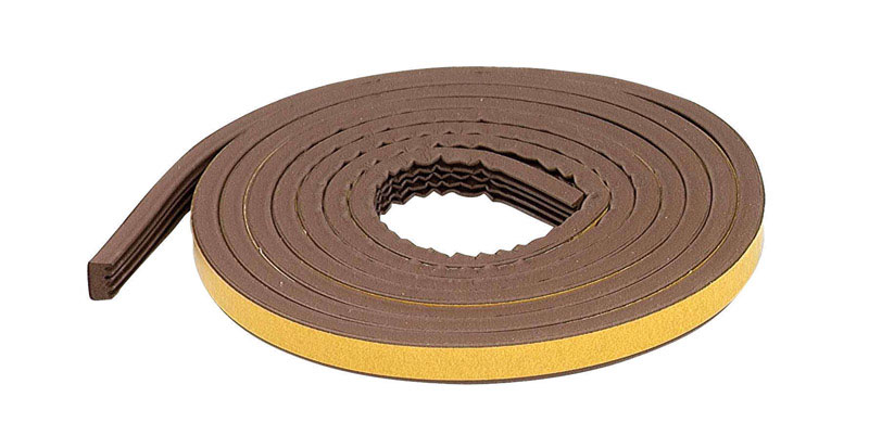 M-D Building Products  Brown  Rubber  Weather Stripping  For Extreme Temperature 10 ft. L x 5/16 in.