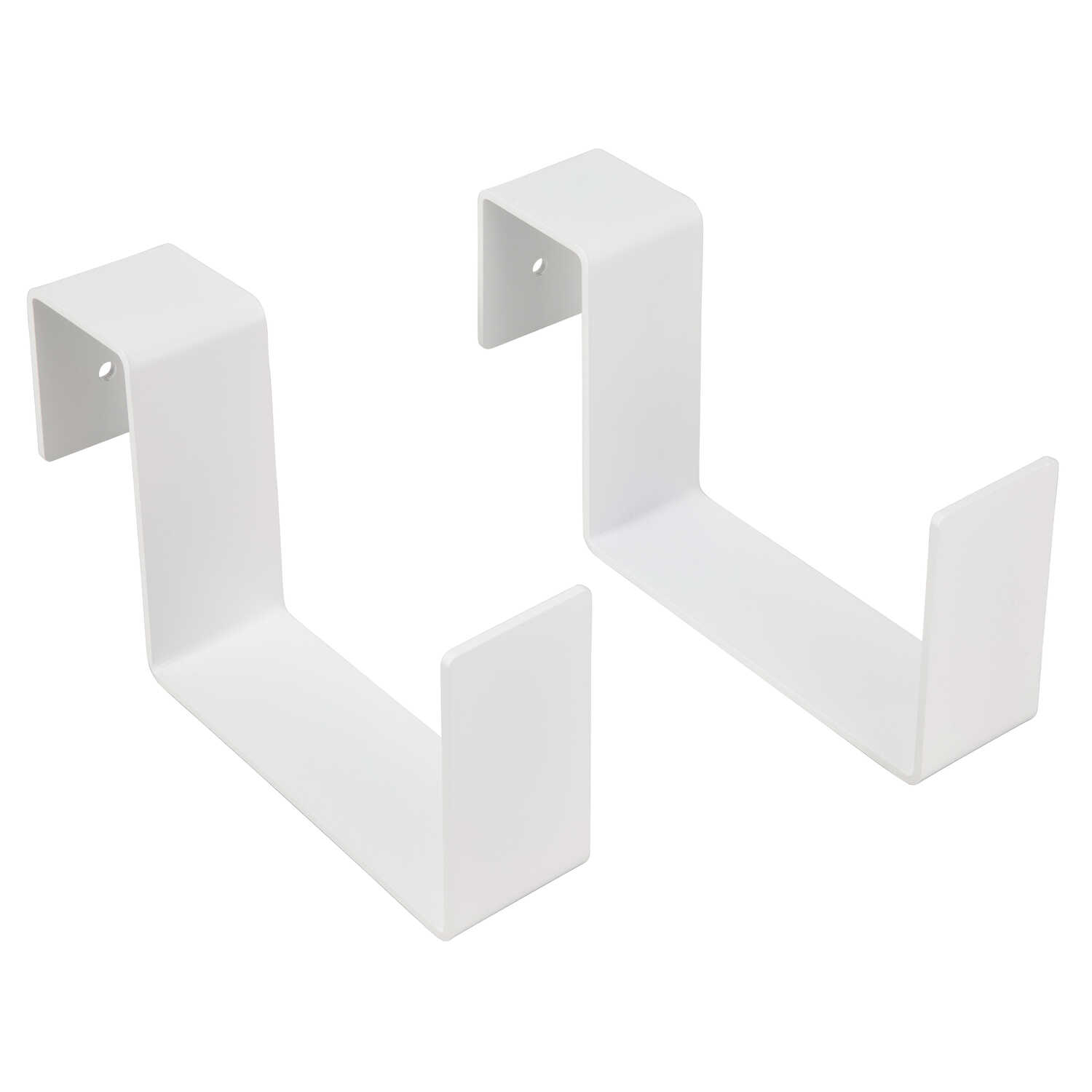 Mide Products  White  Aluminum  4-1/2 in. H Slip-on to Fence/Railing  Plant Hanger  2 pk