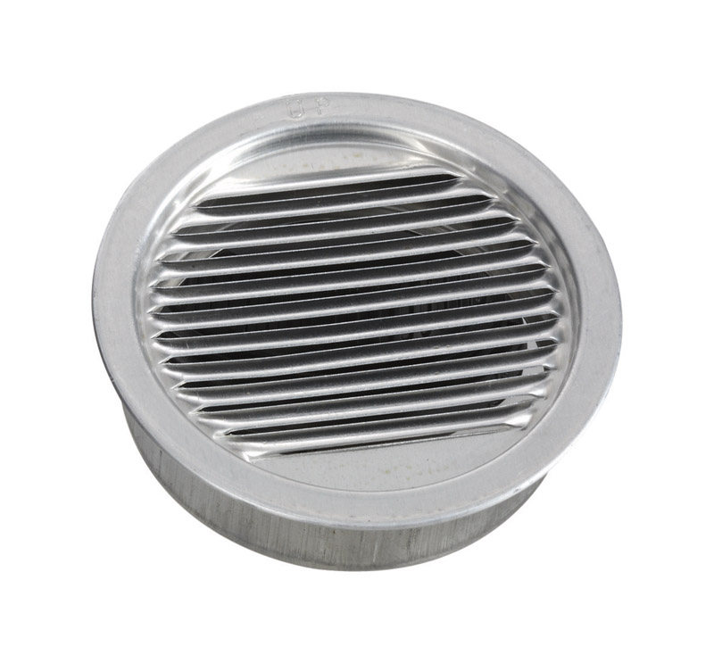 Air Vent  3 in. W x 3 in. L Mill  Silver  Aluminum  Mini Louver