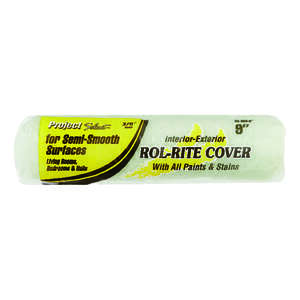 Project Select  Rol-Rite  Polyester  3/8 in.  x 9 in. W Paint Roller Cover  For Semi-Smooth Surfaces