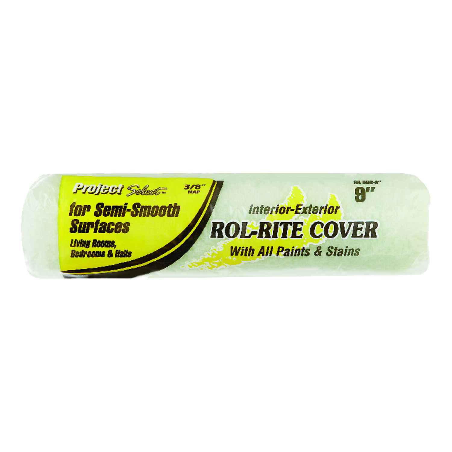 Project Select  Rol-Rite  Polyester  3/8 in.  x 9 in. W Regular  Paint Roller Cover  For Semi-Smooth
