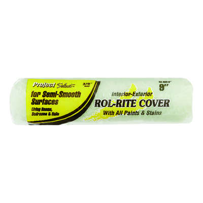Project Select  Rol-Rite  Polyester  3/8 in.  x 9 in. W Regular  Paint Roller Cover  1 pk