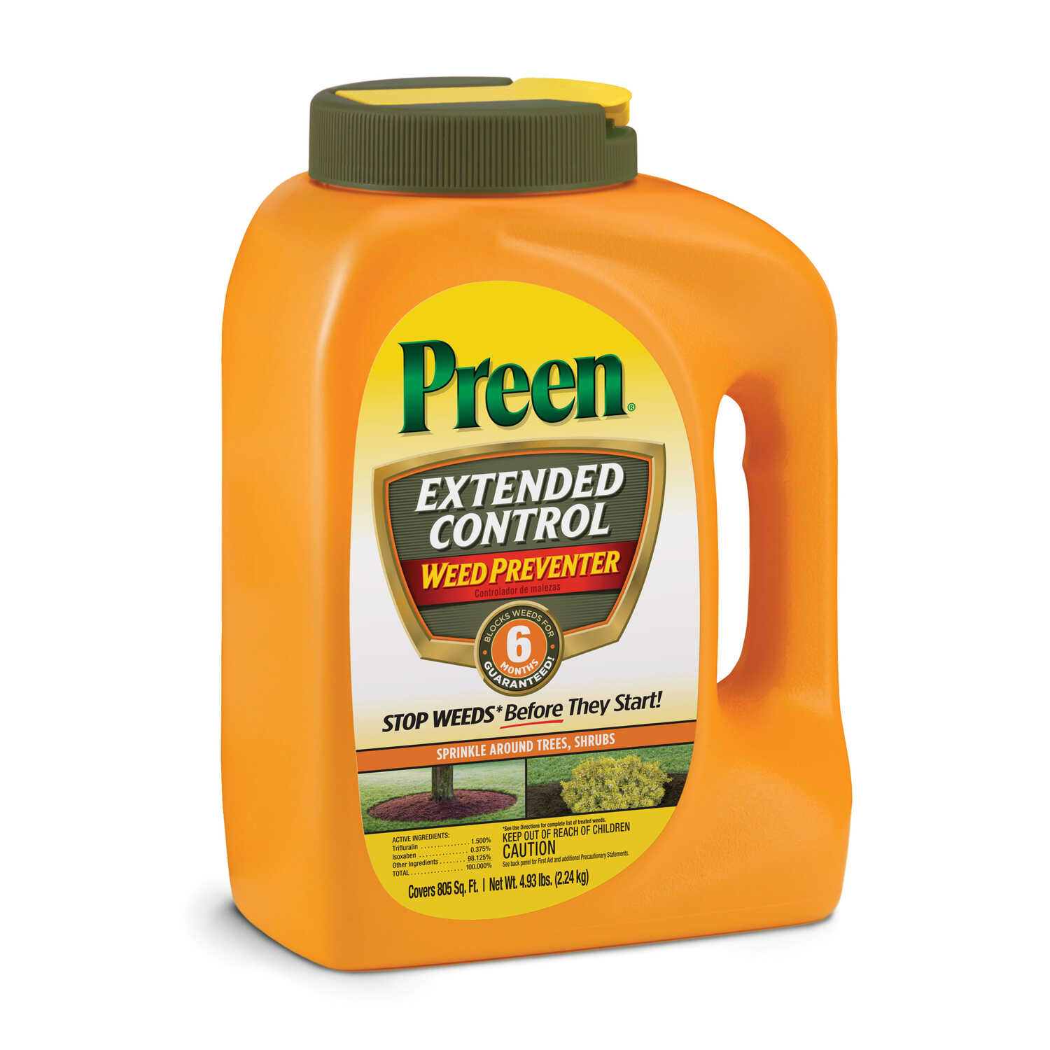 Preen Extended Control Landscape Weed Preventer Granules