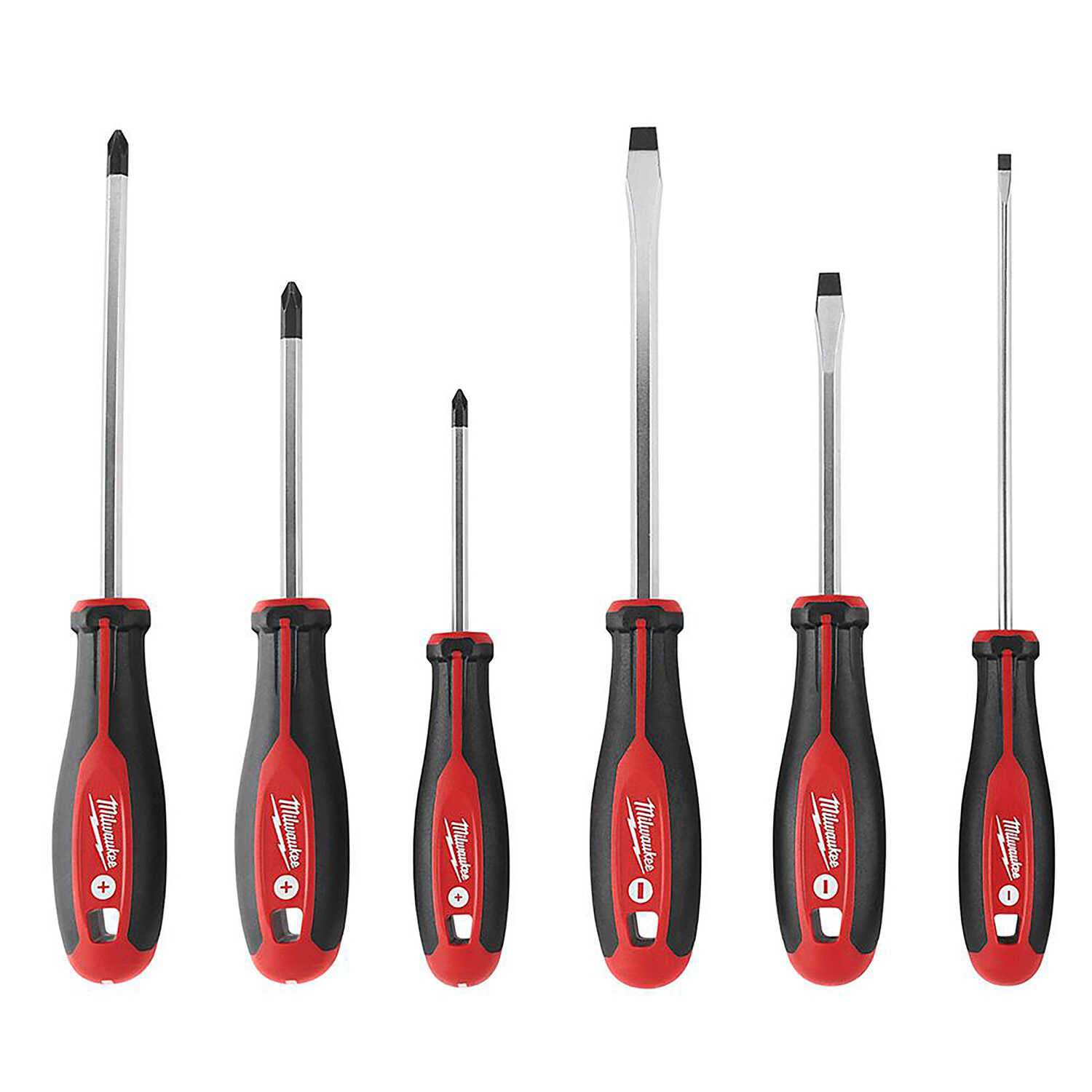 Milwaukee  6 pc. Phillips/Slotted  Screwdriver Set  10.0 in. Drop Forged Steel
