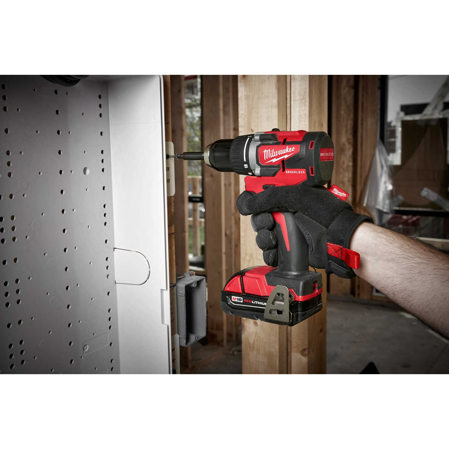 Milwaukee  M18  18 volt Brushless  Cordless Compact Drill/Driver  Kit  1/2 in. 1800 rpm