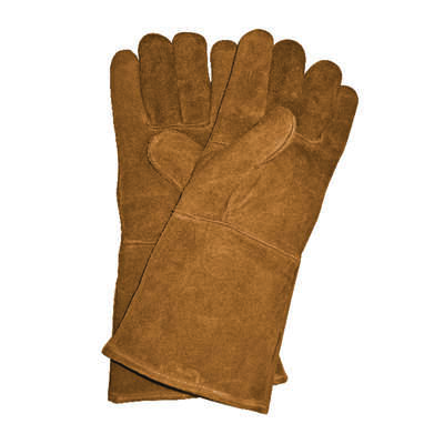 Panacea  Unisex  Indoor/Outdoor  Leather  Fireplace Hearth Gloves  Brown  One Size Fits All  1 pair