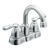 Moen Banbury Chrome Two Handle Lavatory Faucet 4 in.