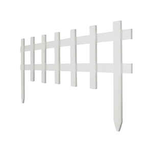 Greenes  36 in. L x 18 in. H Garden Fence  White  Wood