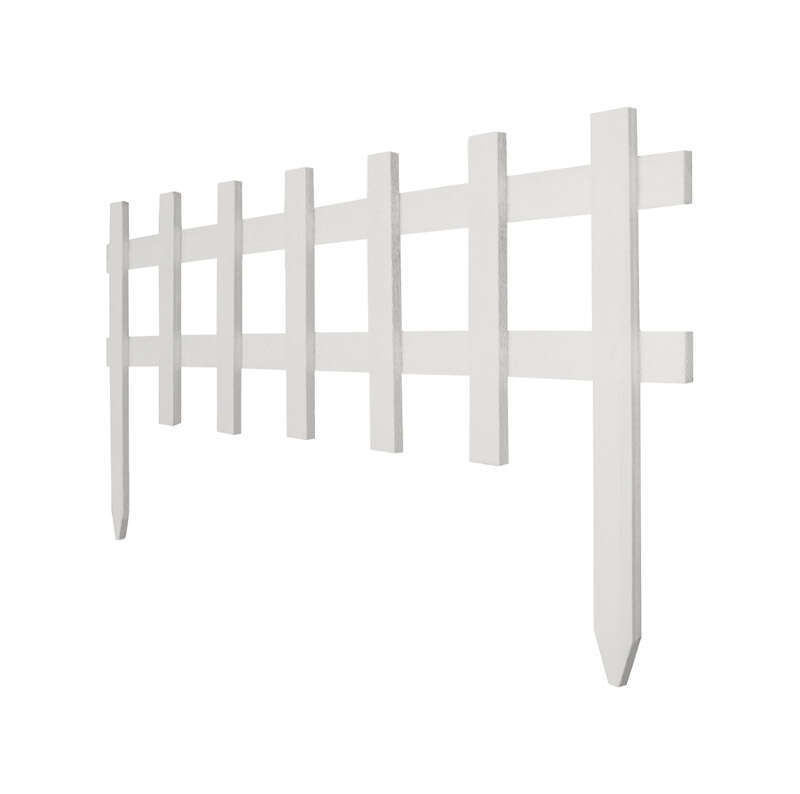 Greenes  36 in. L x 18 in. H Wood  White  Garden Fence