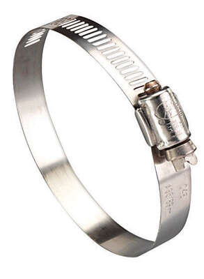 Ideal  Hy Gear  3/4 in. 2-3/4 in. SAE 36  Silver  Hose Clamp  Stainless Steel  Band
