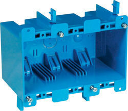 Carlon  5-3/4 in. PVC  3 gang Outlet Box  Blue  Rectangle