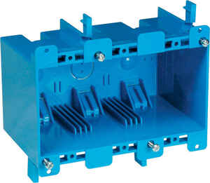Carlon  5-3/4 in. Rectangle  3 gang Blue  PVC  Outlet Box