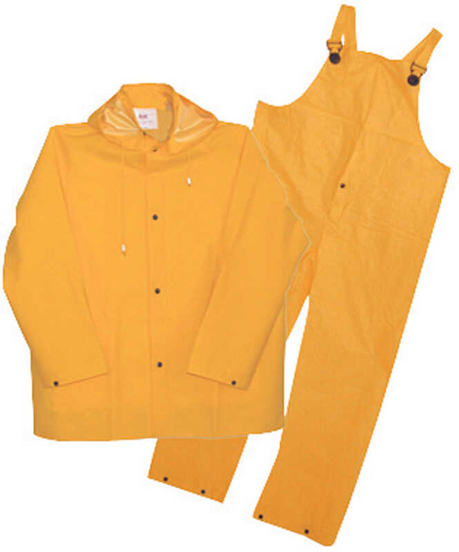 Boss  Yellow  PVC-Coated Polyester  Rain Suit