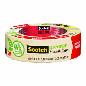 Scotch  1.4 in. W x 60 yd. L Tan  Medium Strength  Masking Tape  1 pk
