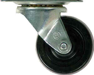 Shepherd  3 in. Dia. Swivel Rubber  Caster  175 lb. 1 pk