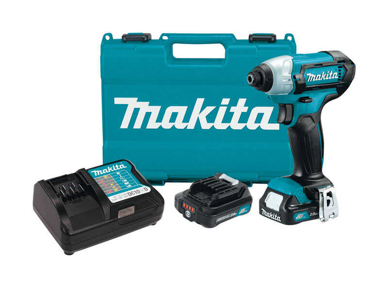 Makita  CXT  12 volt 1/4 in. Hex  Cordless  Compact Impact Driver  Kit 970 in-lb