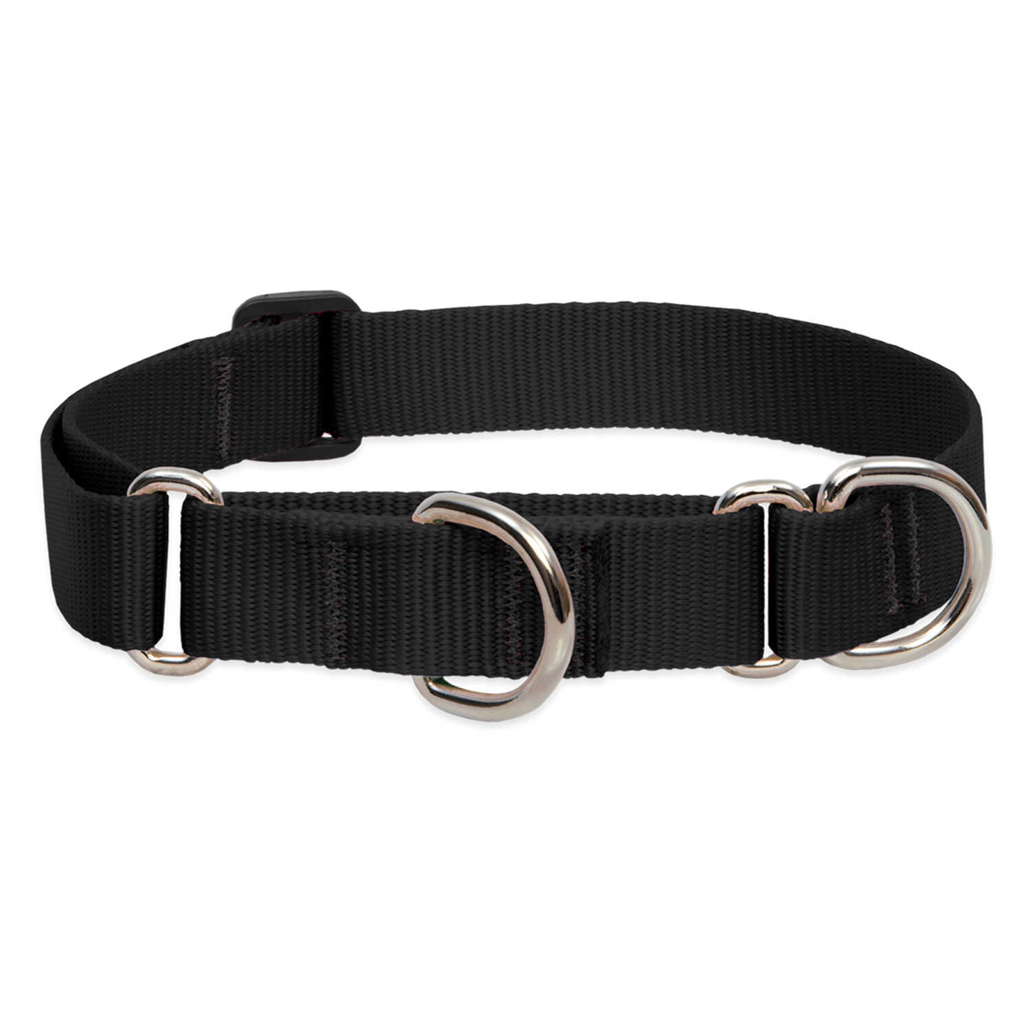 Lupine Pet  Basic Solids  Black  Nylon  Dog  Collar