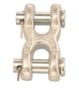 Campbell Chain  Zinc-Plated  Forged Steel  Double Clevis  5400 lb. 2-27/32 in. L 10 pk
