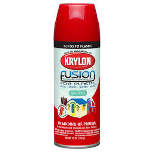 Krylon  Gloss  Fusion Spray Paint  12 oz. Red Pepper