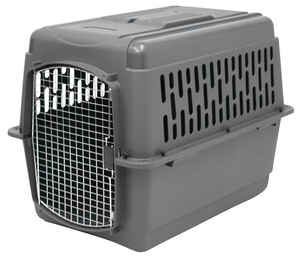 Petmate  Polymer  Pet Kennel  30 in. H Dark Gray