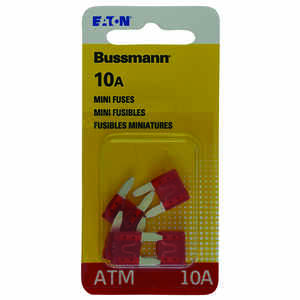 Bussmann  10 amps ATM  Mini Automotive Fuse  5 pk