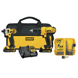 DeWalt 20V MAX 20 volt Cordless Brushed 2 tool Compact Drill and Impact Driver Kit