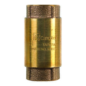 Campbell  3/4 in. 3/4 in. FIP X 3/4 in. FIP  Red Brass  Spring  Check Valve