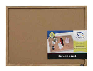 Quartet  35 in. H x 47 in. W Screw-Mounted  Bulletin Board