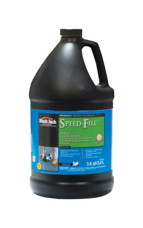 Black Jack  Speed-Fill  Gloss  Black  Polymer  Rubberized Asphalt  Crack Filler  3.6 qt.
