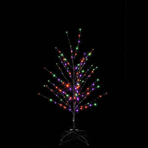 Santa's Best  Twig Tree  Lighted Halloween Decoration  24 in. H x 18 in. W 1 pk