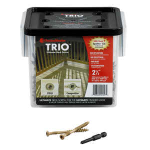 FastenMaster  Trio  2-1/2 in. L Flat Head Epoxy  Carbon Steel  Deck Screws  350 per box