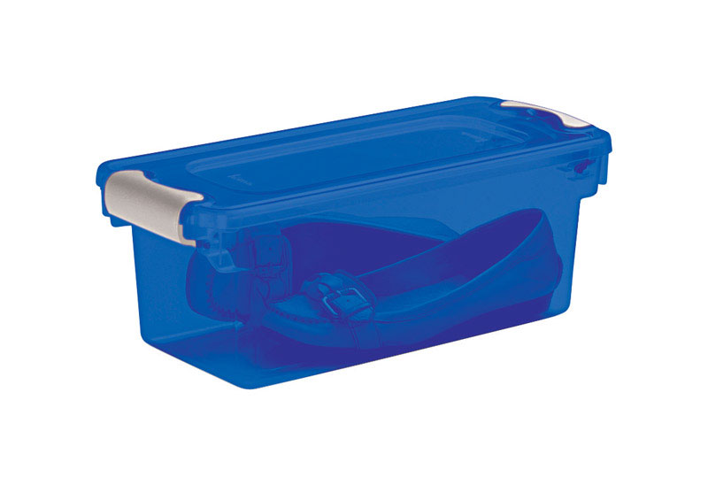 Homz  Latching  6-1/8 in. H x 7 in. D x 16 1/4 in. W Storage Box  Stackable