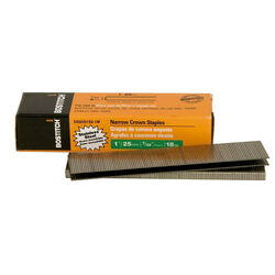 Bostitch  1 in. L Galvanized  Stainless Steel  Wire Staples  18 Ga. 1000 pk