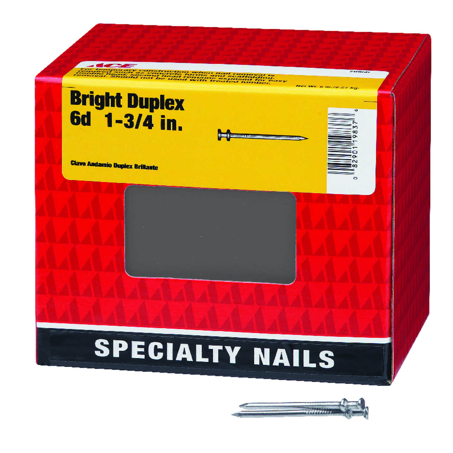 Ace  6D  1-3/4 in. L Duplex  Steel  Nail  Double Head 1 pk 5 lb.