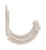 Ace 1-3/4 in. L Satin Nickel Silver Metal Small Garment Hook 2 pk