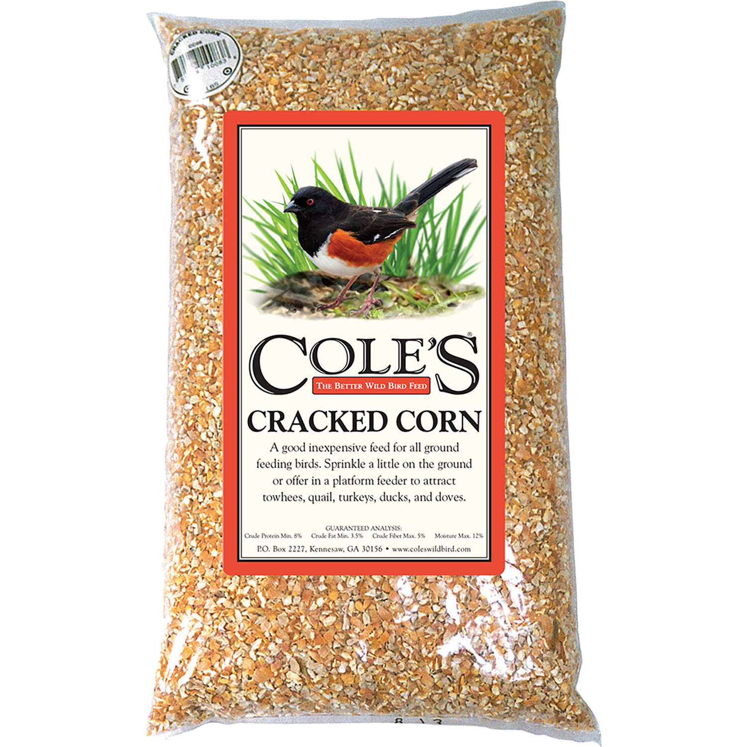 Cole's Assorted Species Cracked Corn Wild Bird Food 20 lb.